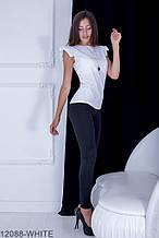 Жіноча блузка Подіум Trefoil 12088-WHITE M Білий