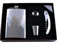 Подарочный набор Moongrass 4в1 -нож/фляга/стопка/лейка