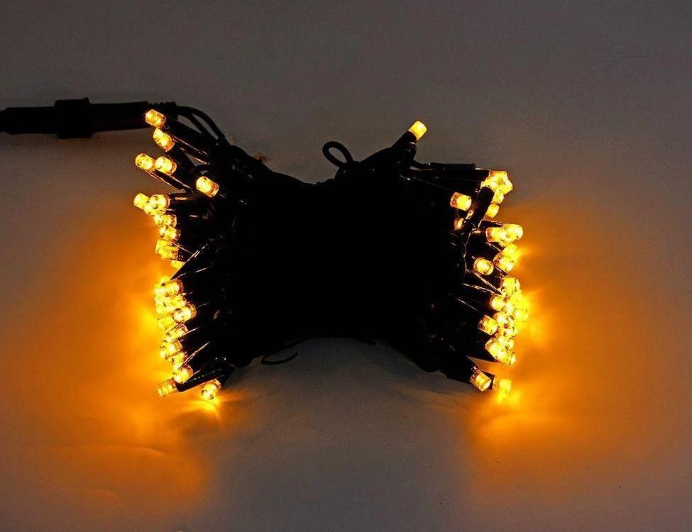 """Гірлянда новорічна вулична """"Нитка"""" 120 LED 10м жовта"""