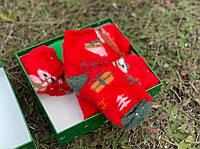 Набор носков новогодних детских теплых в подарочной коробке
