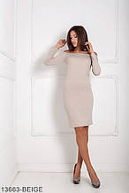 Жіноче плаття Подіум Marum 13663-BEIGE S Бежевий L