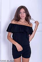 Жіночий комбинезон Подіум Zealand 12095-BLACK S Чорний XXL