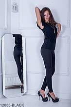 Жіноча блузка Подіум Trefoil 12088-BLACK S Чорний XXL