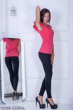 Жіноча блузка Подіум Trefoil 12088-CORAL S Кораловий XL