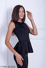 Жіноча блузка Подіум Verbena 11795-BLACK S Чорний M