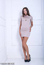 Жіноче плаття Подіум Myurus 10029-BEIGE S Бежевий