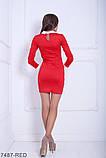 Жіноче плаття Подіум Columbine 7487-RED S Червоний M, фото 3