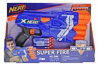 Бластер NERF 7069 на поролонових патронах. Дитячий пістолет, зброю.