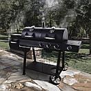 Комбінований гриль-коптильня Oklahoma joe's Longhorn Combo Black/Gas Smoker & Grill, фото 5