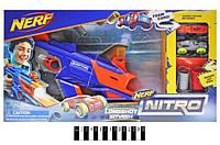 "Набор с запуском ""NERF NITRO"" 7712 Трек Бластер Longshot smash"
