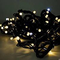 """Гирлянда новогодняя уличная """"Нить"""" 120 LED 10м теплый белый с мерцанием"""