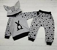 Детский костюм для девочки трехнитка с начесом.р-р1,2,3 года