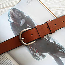 Женский кожаный класический ремень 3.5 см