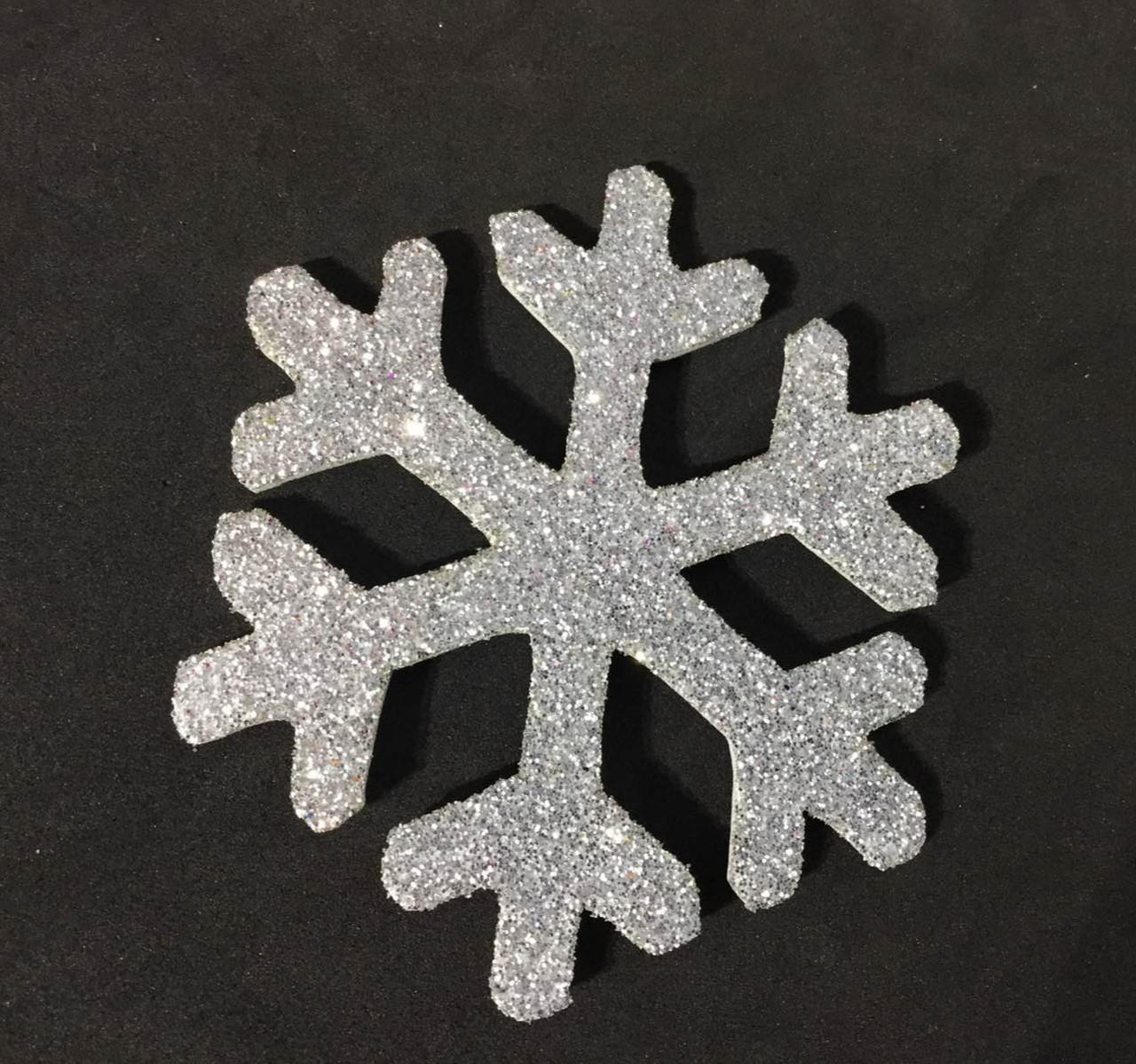 Снежинки из фоамирана, БЕЛАЯ, 4 см в диаметре, набор 10 шт