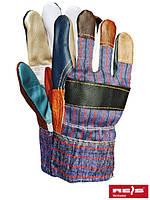 Защитные перчатки, утепленные и усиленные разноцветной яловой кожей RLKOPAS MIX