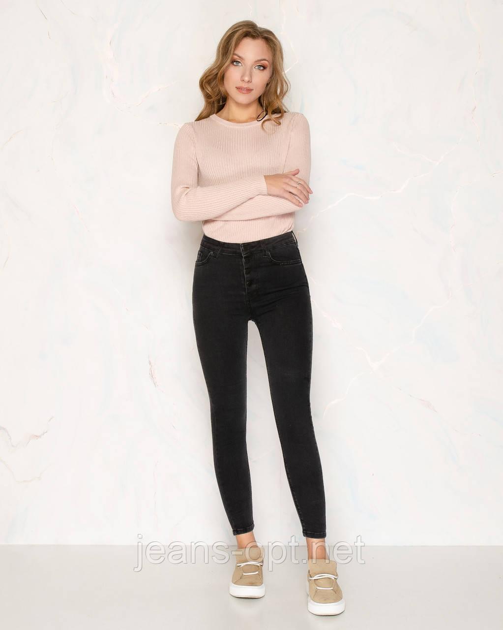 Женская американка джинс на пуговицах 1