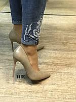 Туфли женские ,лодочки,шпилька ,бежевые, фото 1
