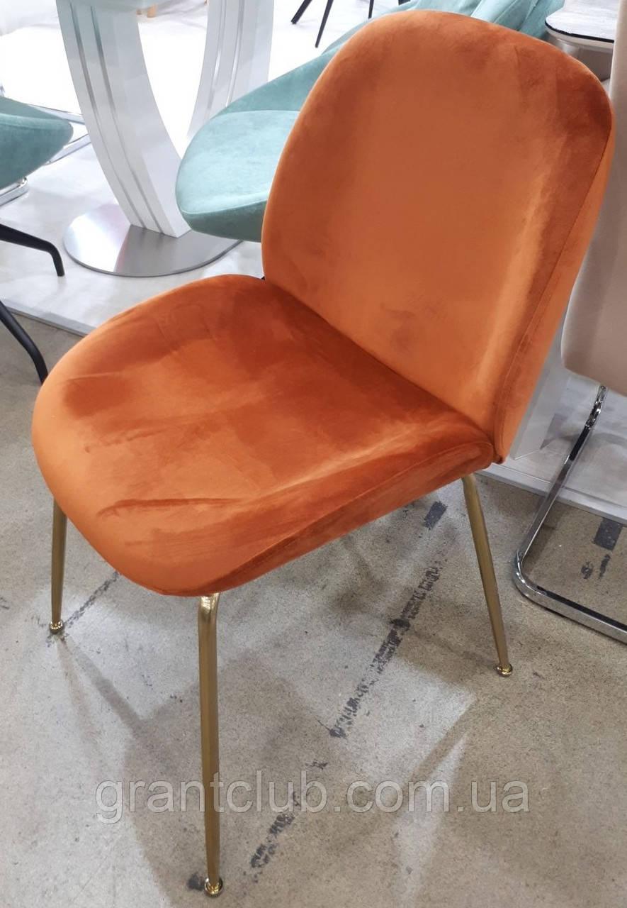Мягкий стул M-32-3 медный вельвет Vetro Mebel (бесплатная доставка)