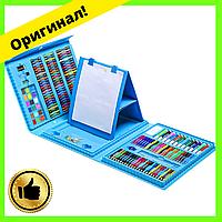 Детский раскладной художественный набор для рисования в чемоданчике с мольбертом на 208 предметов| Оригинал