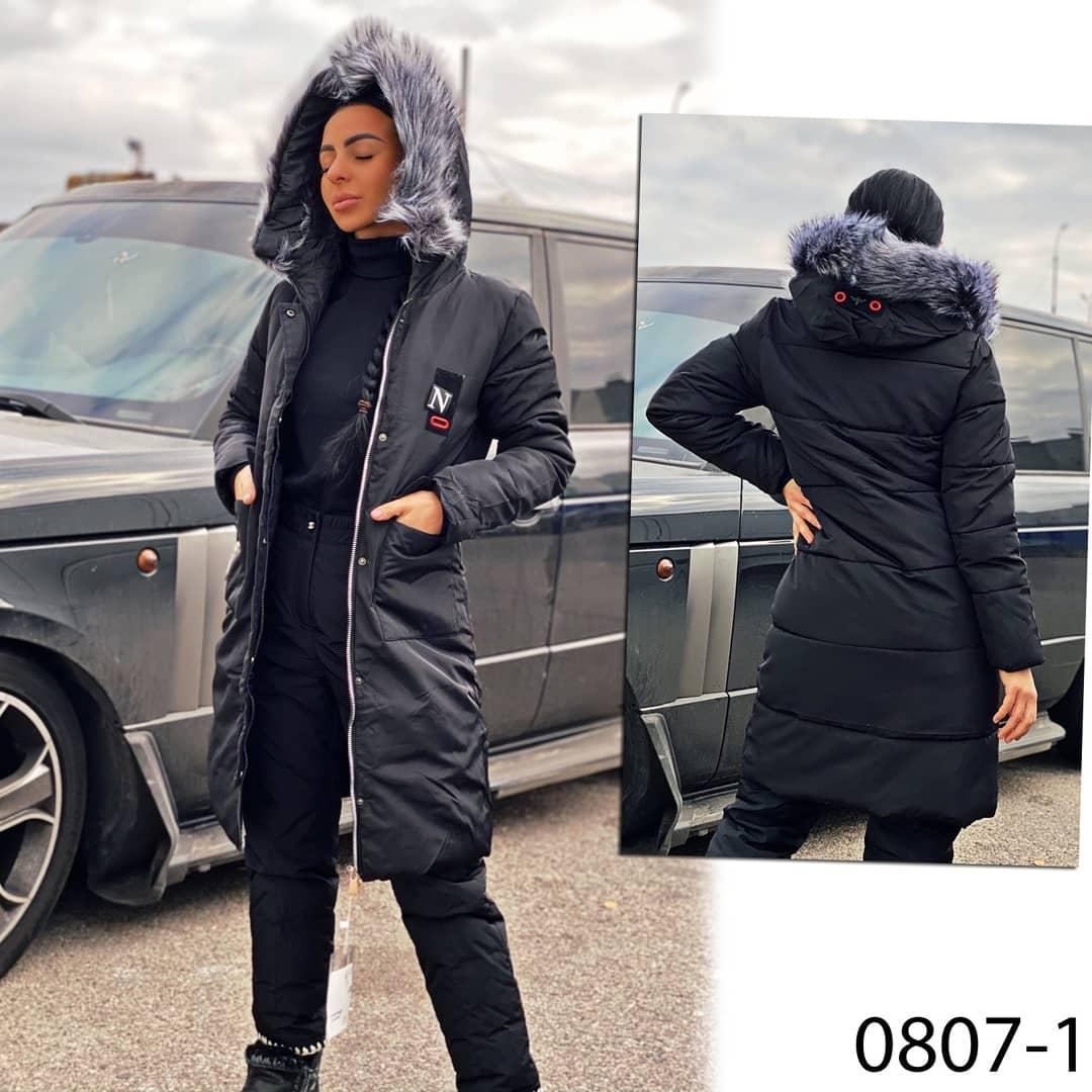 Куртка черная женская еврозима 0807-1