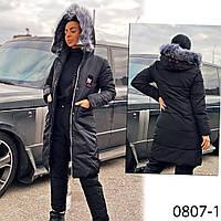 Куртка черная женская еврозима 0807-1, фото 1