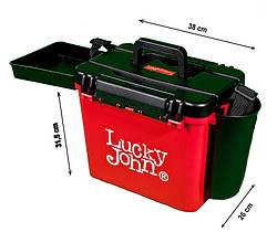 Ящик зимовий пластиковий (високий) LUCKY JOHN (38×26×31.5 cm)