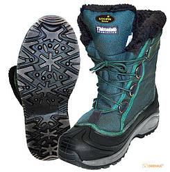 Ботинки зимние Norfin Snow (комбинирован., искусcтв. мех, зеленый) -20 ° / р. 46 (13980-46)