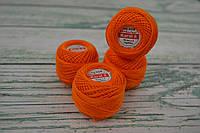Летняя пряжа Ariadna Karat 8, цвет - оранжевый темный 0436