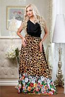 Эксклюзивное длинное платье Магнолия В5 Медини 42-46размер