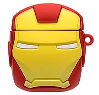 Чехол Marvel & DC series (+ карабин) к наушникам Apple AirPods (Iron Man / Красный), фото 1