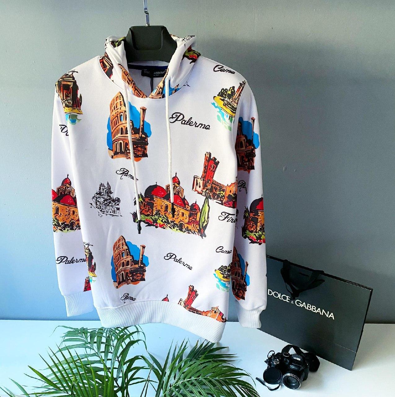 Худи - мужская худи Dolce&Gabbana леопардовая