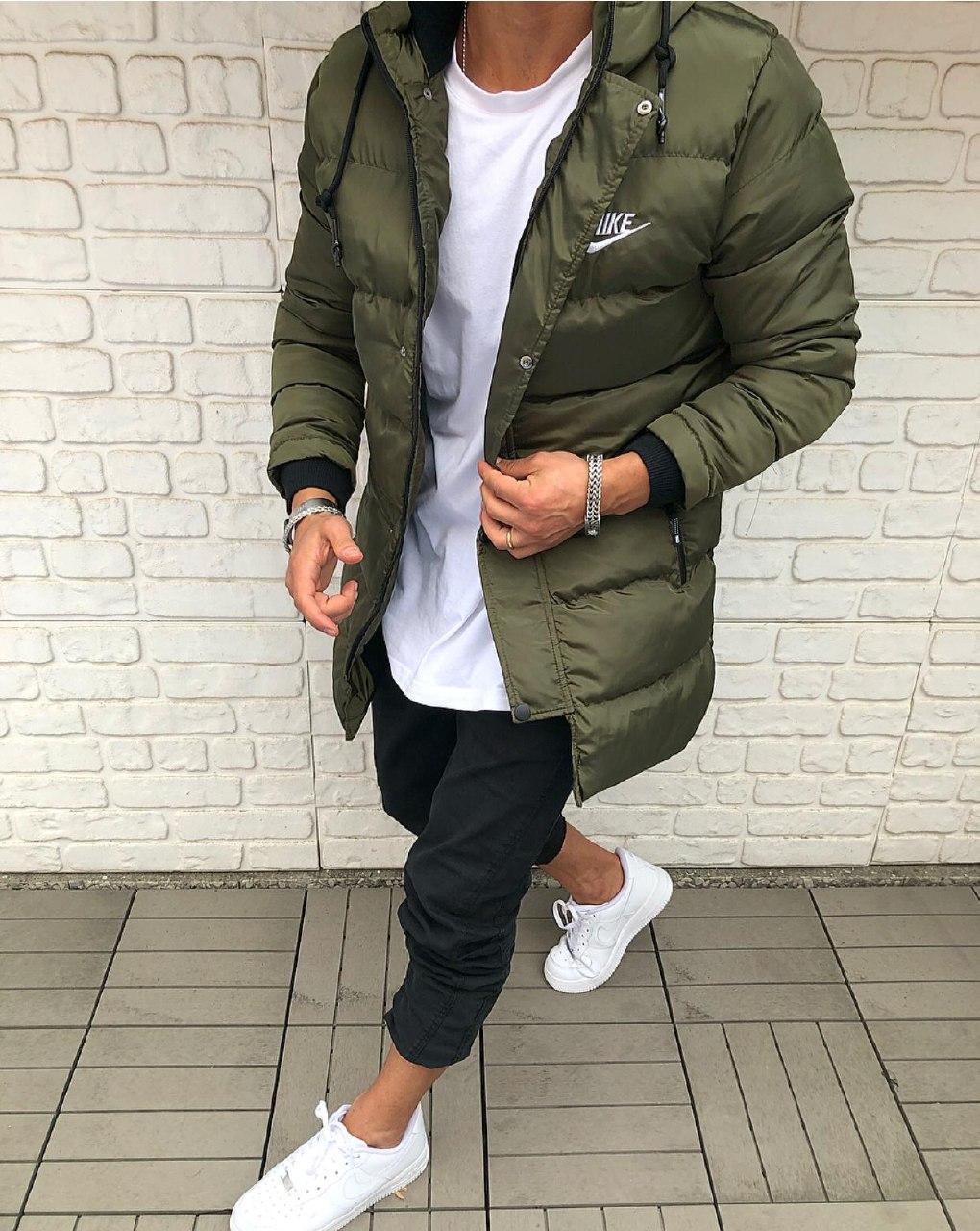 😜 Куртка - Мужскаяя тепла зимова куртка NIKE хакі