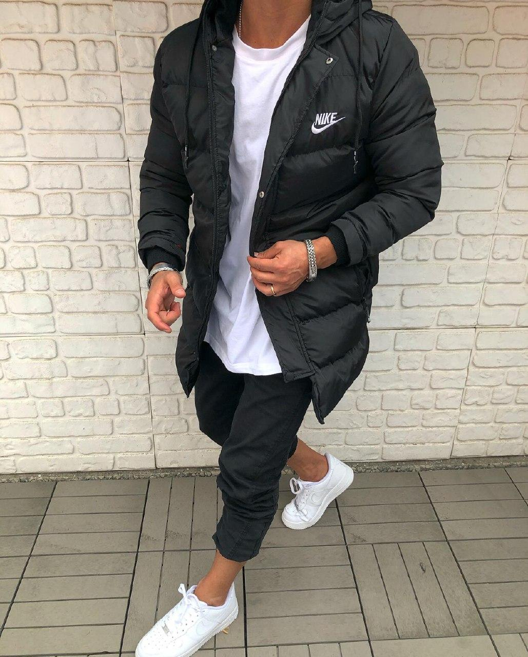 😜 Куртка - Мужскаяя тепла зимова куртка чорна NIKE