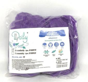 Doily Повязка для волос одноразовая 10 шт (спанбонд, фиолетовый, стандарт)