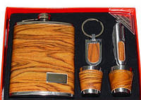 Подарочный набор Moongrass 5в1 -фляга/стопки/брелок/нож