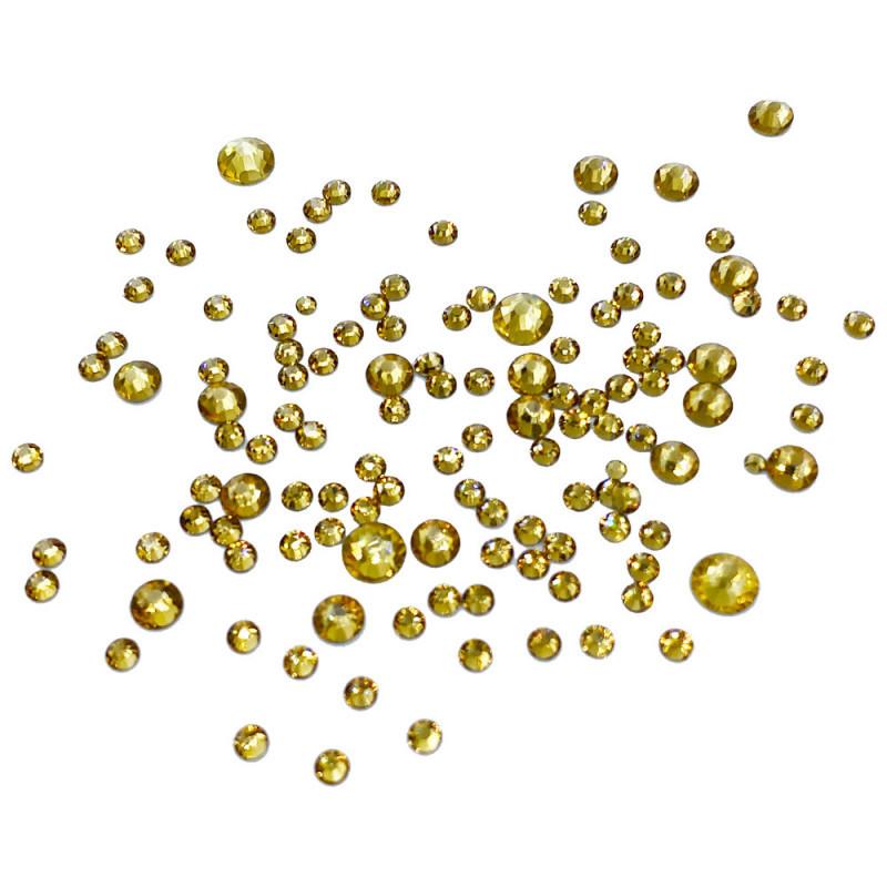 Фурман Камни сваровски стекло разного размера золотые 1440 шт