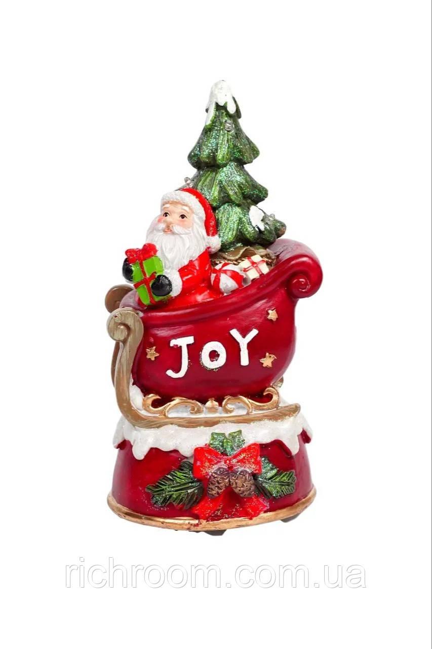 Декоративная музыкальная новогодняя статуэтка Санта Клаус с LED подсветкой Christmas gifts