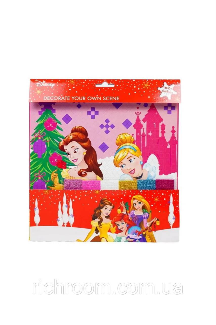 Набір для творчості, Алмазна картина - мозаїка з блискучих наклейок Принцеси Disney