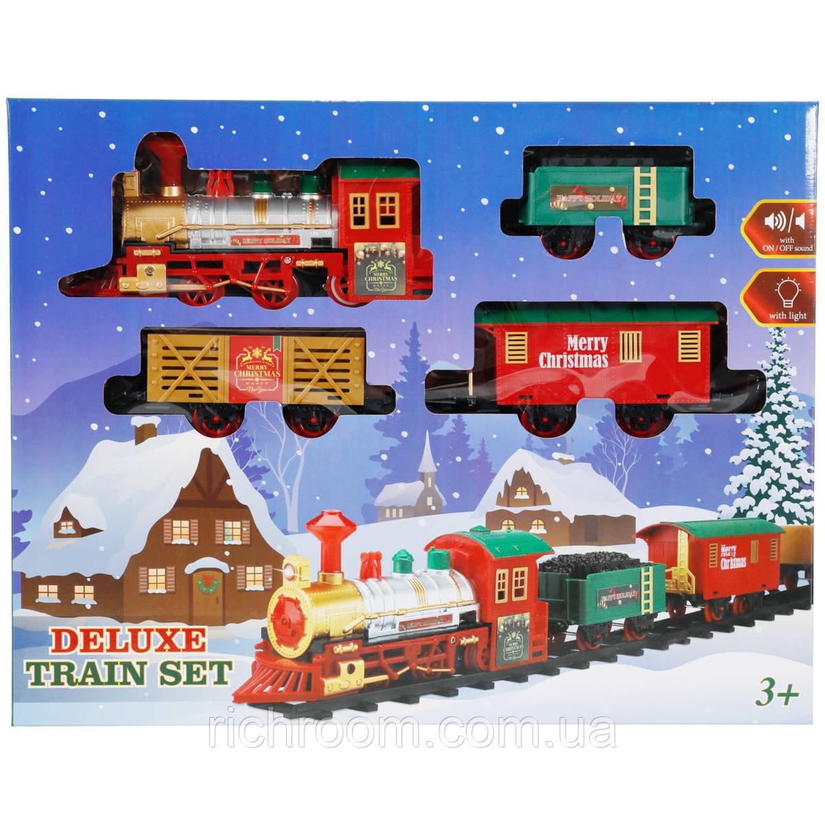 """Игрушка железная дорога """"Рождественский поезд"""" со светом и звуковыми эффектами"""