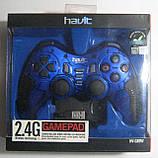 Геймпад компьютерный беспроводной Havit HV-G89W USB+PS2+PS3 (синий), фото 2