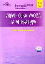 ЗНО 2021 Українська мова та література Власні висловлення Авраменко О. Гарюнова Ю. Грамота
