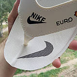 Распродажа Летние белые тапки-вьетнамки Nike, сланцы Nike домашние тапочки Nike, фото 3