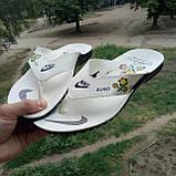 Распродажа Летние белые тапки-вьетнамки Nike, сланцы Nike домашние тапочки Nike, фото 6
