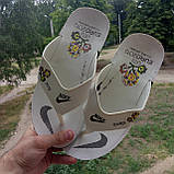 Распродажа Летние белые тапки-вьетнамки Nike, сланцы Nike домашние тапочки Nike, фото 7