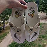 Распродажа Летние белые тапки-вьетнамки Nike, сланцы Nike домашние тапочки Nike, фото 8