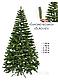Елка искусственная литая Буковельская 1.5 м. Зеленая. Ель литая, штучна ялинка( как настоящая премиум), фото 9