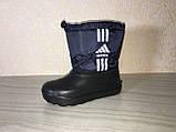 Сапоги ЭВА на мальчика, зимние ботинки ПВХ, детские валенки Adidas, зимняя обувь из пенки, сноубутсы, фото 5
