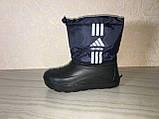 Сапоги ЭВА на мальчика, зимние ботинки ПВХ, детские валенки Adidas, зимняя обувь из пенки, сноубутсы, фото 8