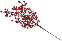 Декоративная ветка с красными ягодами, 58см BonaDi 734-510