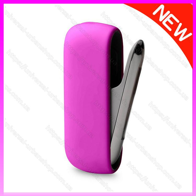 Чехол для Iqos 3 Duo Розовый  - силиконовый чехол для iqos 3.0. Защитный чехол для айкос IQOS 3/Дуо